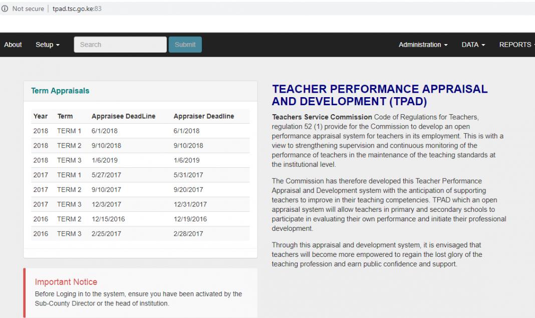 TPAD Tool For Teachers