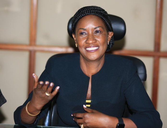 TSC boss Dr Nancy Njeri Macharia. The Commission is recruiting over 10000 intern teachers so as to bridge the teething staff shortages. Photo/ File