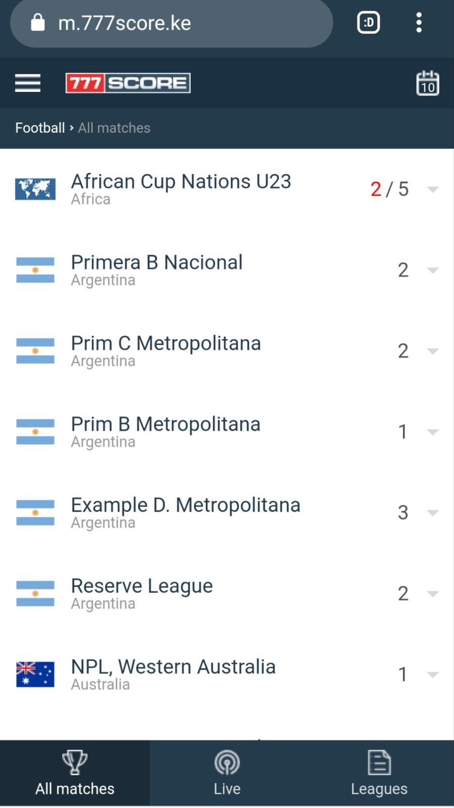 Livescore Results Keep Track Of Epl Events Education