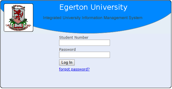 How to Log in to Egerton University Students Portal online, for Registration, E-Learning, Hostel Booking, Fees, Courses and Exam Results