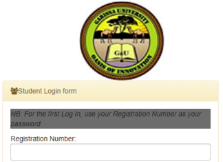 How to Log in to Garissa University Students Portal online, for Registration, E-Learning, Hostel Booking, Fees, Courses and Exam Results