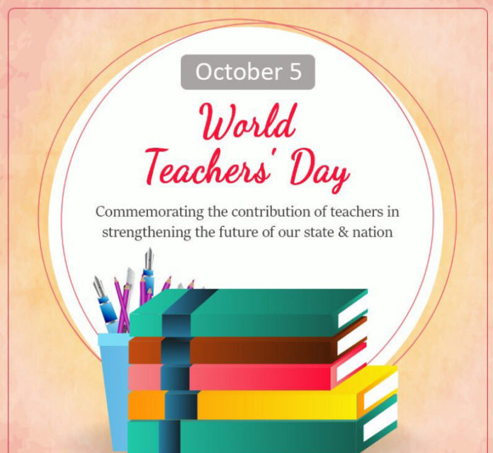 World Teachers' Day held annually on October, 5