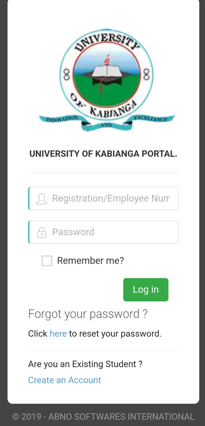How to Log in to University of kabianga Students Portal, http://portal.kabianga.ac.ke/; for Registration, E-Learning, Hostel Booking, Fees, Courses and Exam Results