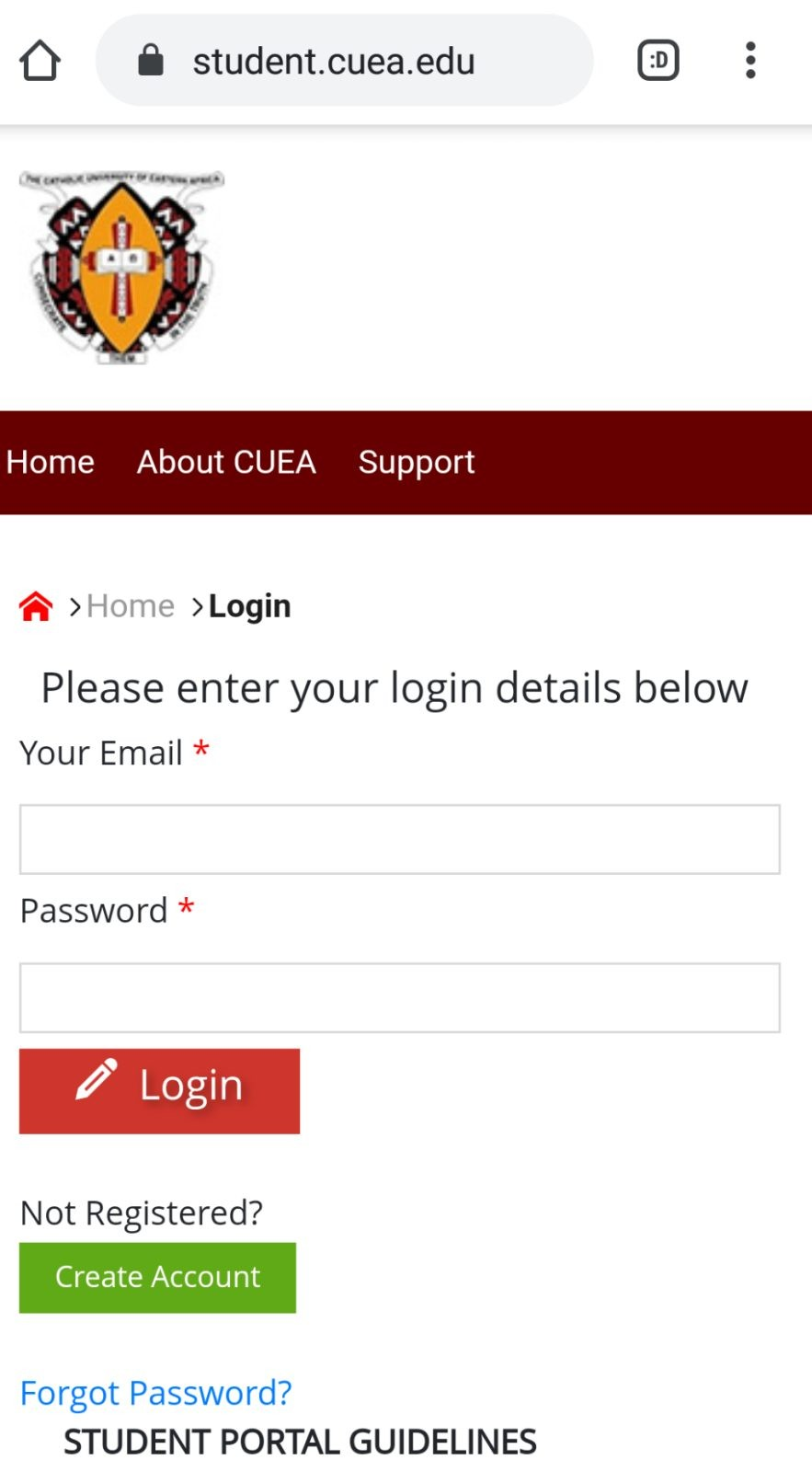 How to Log in to Catholic University Of Eastern Africa (CUEA) Students Portal, https://student.cuea.edu, for Registration, E-Learning, Hostel Booking, Fees, and Exam Results