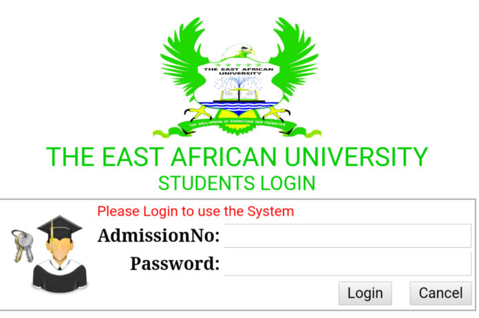 How to Log in to East African University Students Portal, for Registration, E-Learning, Hostel Booking, Fees, Courses and Exam Results