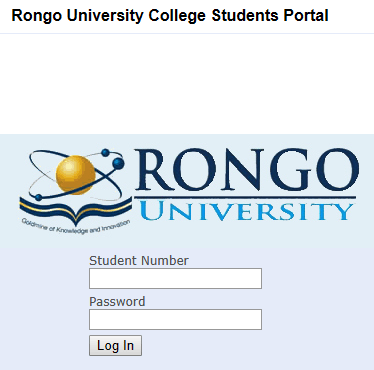How to Log in to Rongo University Students Portal, for Registration, E-Learning, Hostel Booking, Fees, Courses and Exam Results