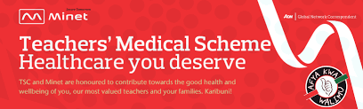 Details of the new AON Minet Medical scheme for teachers; Benefits per job group