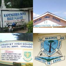 Sub County Secondary Schools in West Pokot County; School KNEC Code, Type, Cluster, and Category