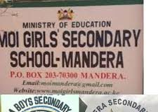 Sub County Secondary Schools in Manadera County; School KNEC Code, Type, Cluster, and Category.