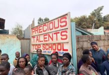 Precious talent school in Nairobi whose classroom collapsed in September, 2019; leaving eight kids dead