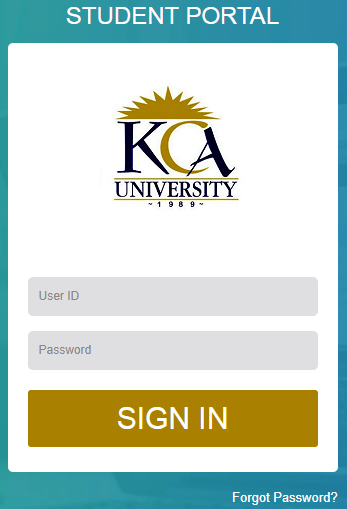 How to Log in to KCA University Students Portal online, for Registration, E-Learning, Hostel Booking, Fees, Courses and Exam Results