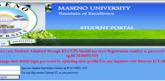 How to Log in to Maseno University Students Portal online, for Registration, E-Learning, Hostel Booking, Fees, Courses and Exam Results