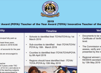 Here are the 2019 National iTOYA, TOYA, and POYA winners plus their details and achievements: TSC News