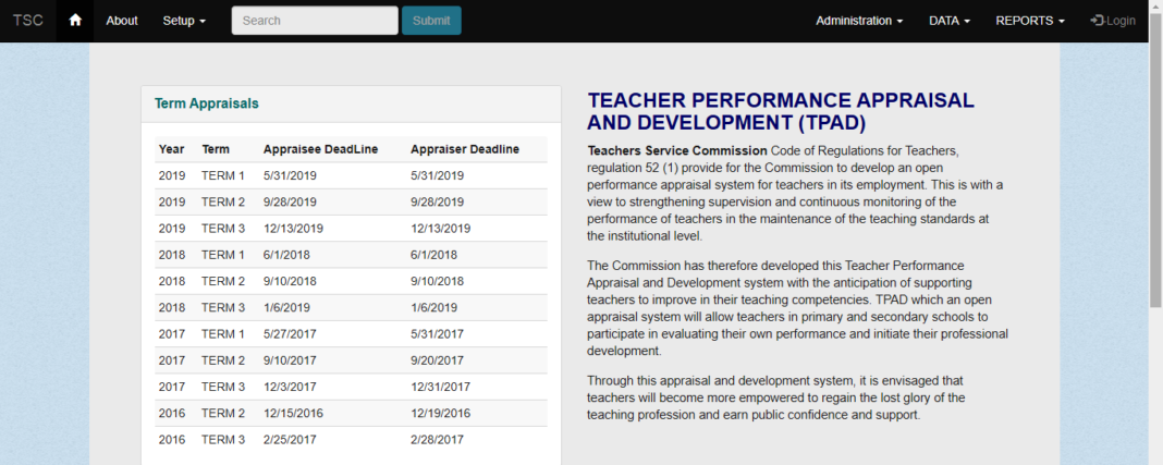 Deadline for filing 2019 term 3 TPAD data by TSC Teachers: TSC Latest News
