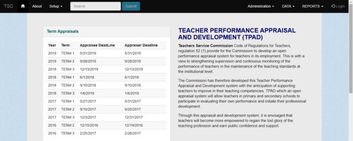 Deadline for filing 2019 term 3 TPAD data by TSC Teachers: TSC Latest News