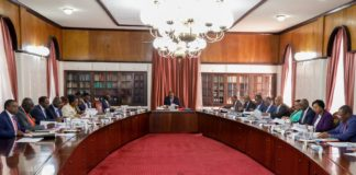 A cabinet Session in progress.