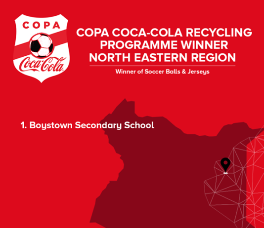 Winners of the 2019 Copa Coca Cola Recycling programme.