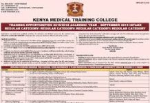 Complete guide to Kenya Medical Training College, KMTC; Fees, Campuses, Courses, application requirements and procedure plus a list of all required documents