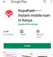 KopaKash App and loans; Instant and cheap loans