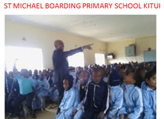 St Michael boarding primary school kitui that produced the 2019 KCPE candidate in the County.