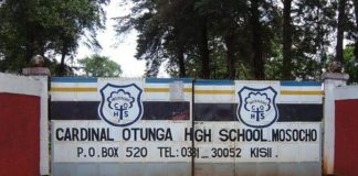 Cardinal Otunga High School, Mosocho, KCSE results analysis