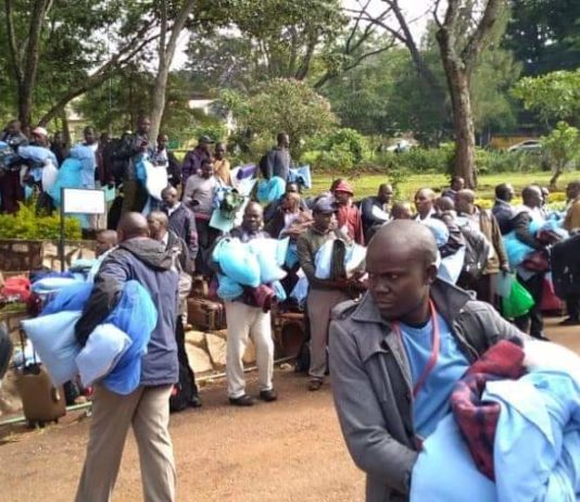 We will to go if you wont increase rates- 2019 KCSE examiners were seen packing at Machakos Girls marking centre on Monday