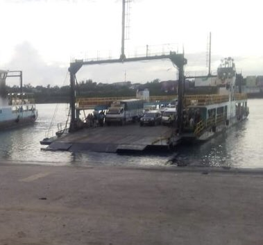 A Ferry at the Likoni channel. Another car has plunged into the Indian Ocean with unknown number of occupants.