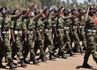Kenya Defence Forces, KDF, officers.