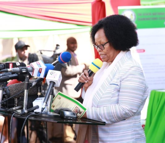 Knec Chief Executive Officer delivers her speech during the release of the 2019 KCSE results on December 18, 2019.