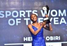Hellen Obiri, was all smiles after being named the 2019 Safaricom Sports Woman of the Year.