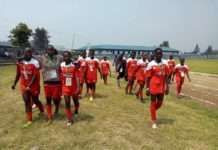 Kwale Girls' Under 19 Soccer team at Ubworoherane Stadium in Musanze, Rwanda. Photo/ File.