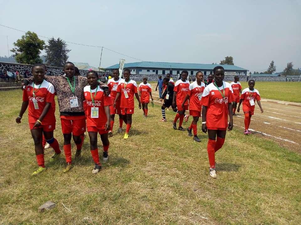 Kwale Girls' Under 19 Soccer team at Ubworoherane Stadium in Musanze, Rwanda. Photo/ File.