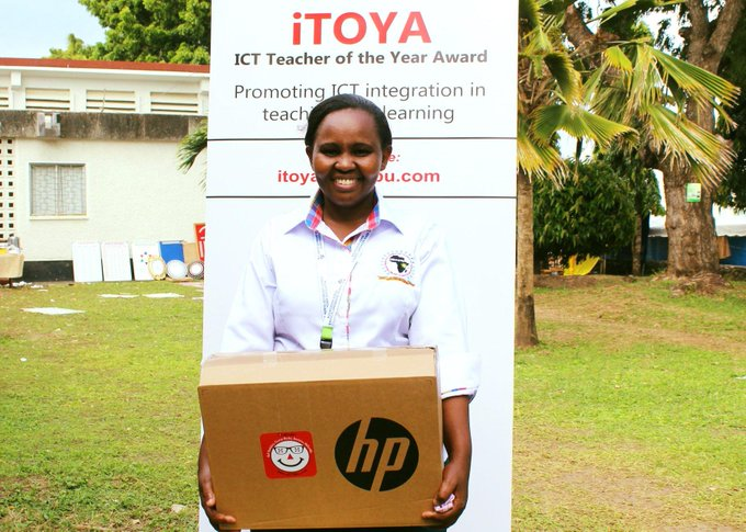 Catherine Wanjiku, 2019 iTOYA Grand Prize winner. Catherine is a CRE teacher at Kerugoya Girls High School in Kirinyaga County