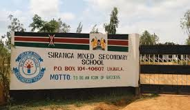 Siranga Mixed Secondary School in Siaya County.