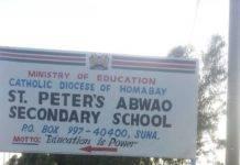 St Peters Abwao boys high school details