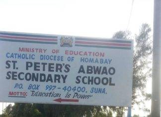 St Peters Abwao boys high school details