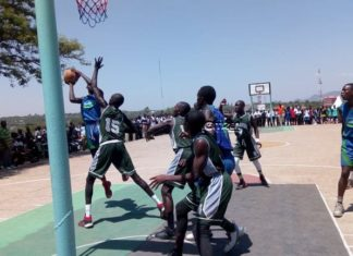 Part of the action in basketball at the 2019 Nyanza Region Secondary Schools Sports Association, NRSSSA, term one championship that was held at Homa Bay High School. Schools are priming themselves for the 2020 edition.