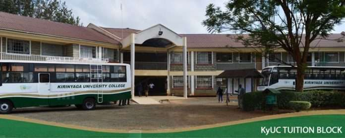 Kirinyaga University (KYU) Student admission letter and KUCCPS pdf list download.