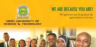 Meru University student admission letter and KUCCPS admission list pdf download