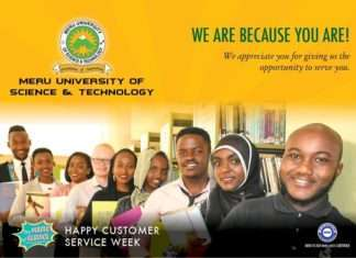 Meru University student admission letter and KUCCPS admission list pdf download