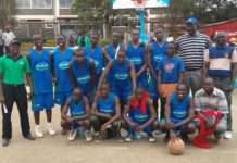 2015 KSSSA Basketball Champions Maseno school pose for a group photo after edging out Nairobi's Upper Hill 46-45 in the final.
