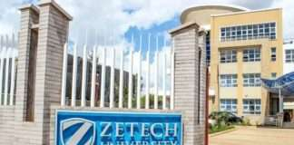 Zetech University student admission list and KUCCPS list pdf download.