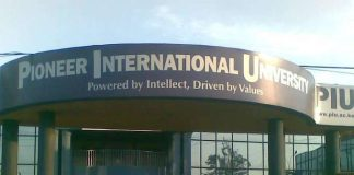 Pioneer International University student admission letter and KUCCPS admission list pdf download.