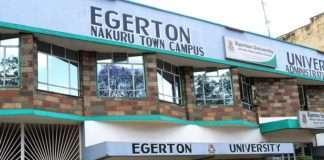 Egerton University Students' admission letters