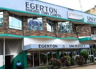 Egerton University Students' admission letters