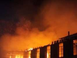 Fire incident at Starehe Boys Centre.