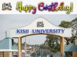 Kisii University 2020/2021 KUCCPS Admission letters and Admission List PDF Download.