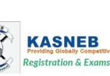 KASNEB Examination registration, time tables and results.