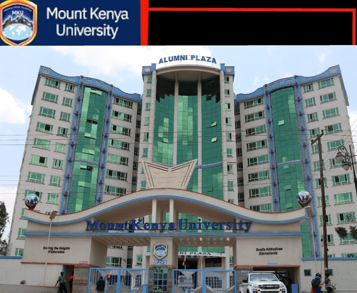 Mount Kenya University (MKU) student admission letter and KUCCPS pdf list download