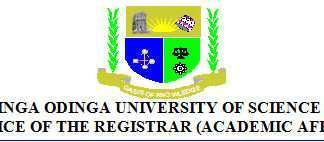 Jaramogi Oginga Odinga University of Science and Technology Students' Admission Letters.